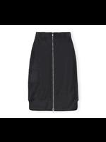 GANNI GANNI Zip Up Cargo Skirt in Black Recycled Nylon