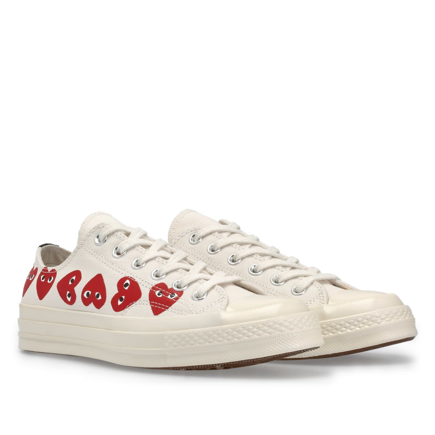 COMME des GARÇONS PLAY Converse PLAY Converse Multi Heart Low Top White