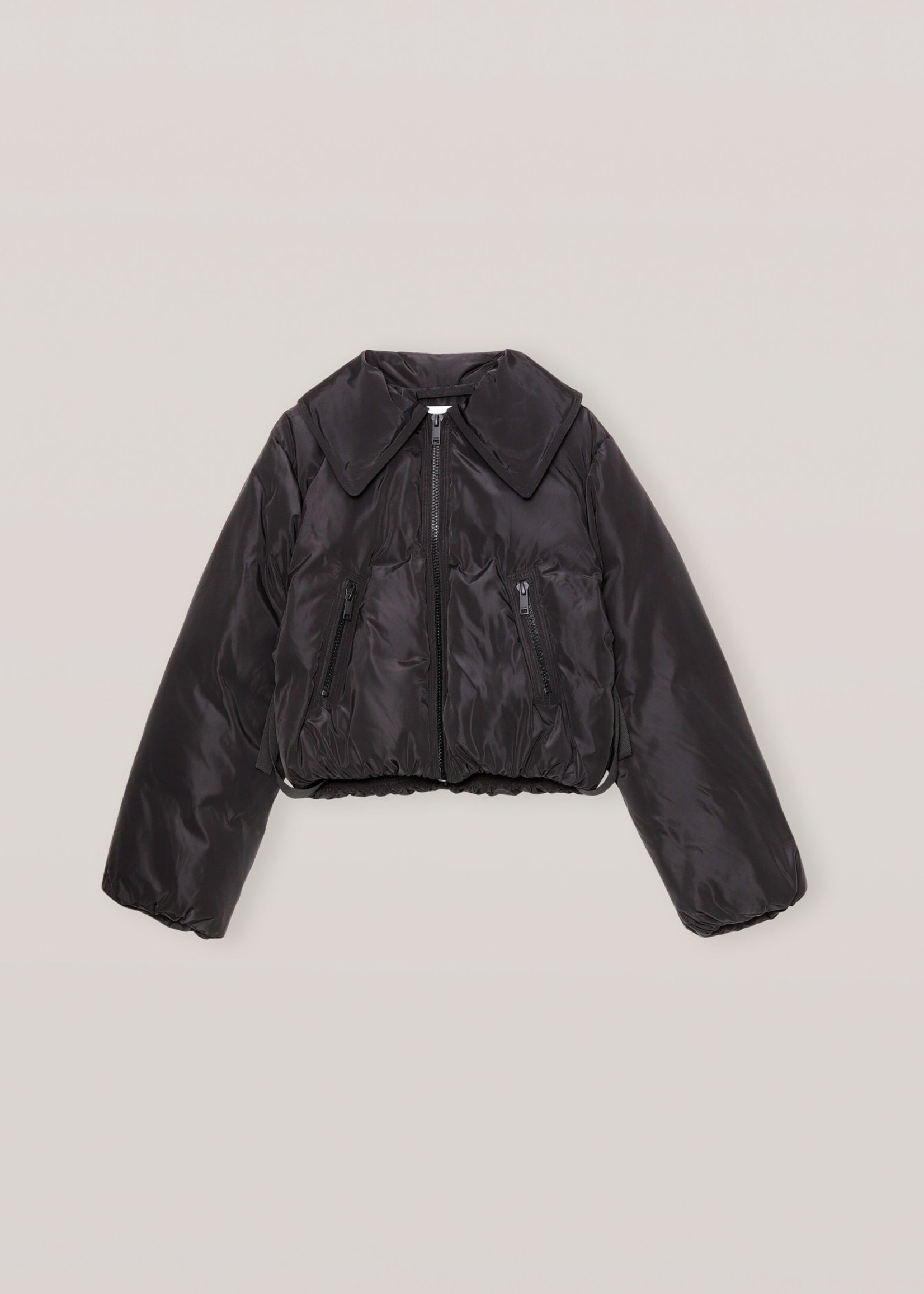 GANNI GANNI Cropped Puffer Jacket in Black