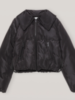 GANNI GANNI Cropped Puffer Jacket in Black