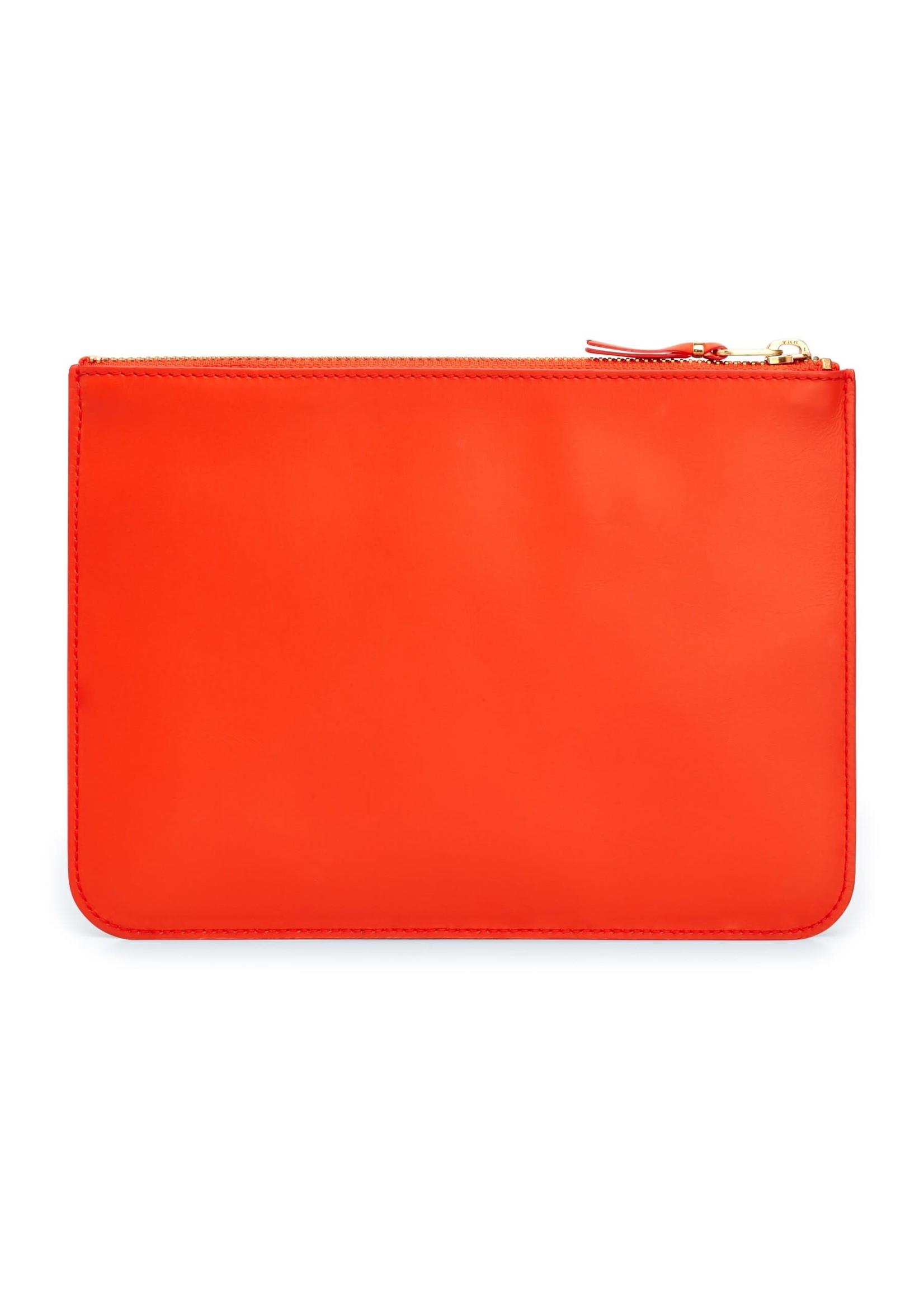 COMME des GARÇONS WALLET Large zip pouch in Orange Ruby Eyed Snake