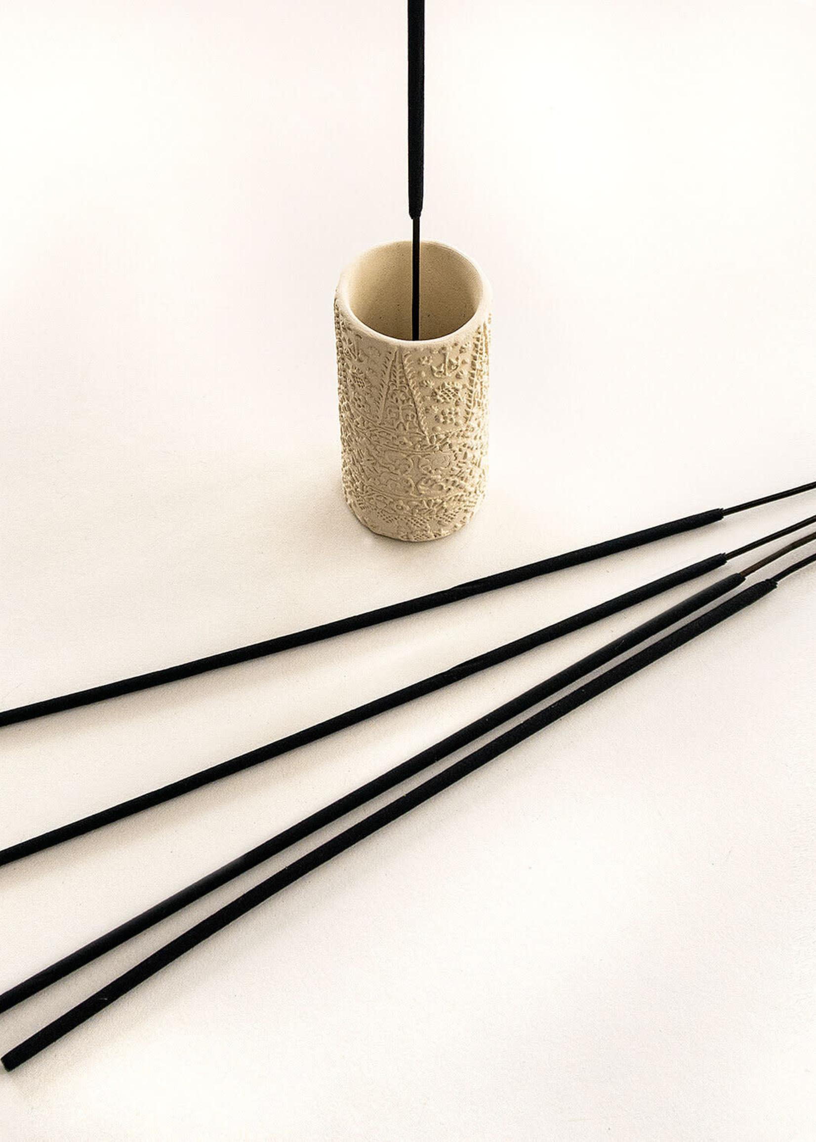Ceramic Print Block Incense Burner