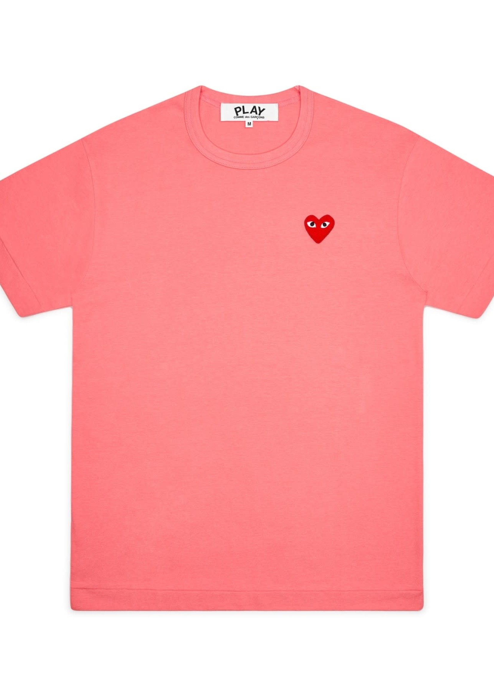 COMME des GARÇONS PLAY PINK TEE WITH RED HEART