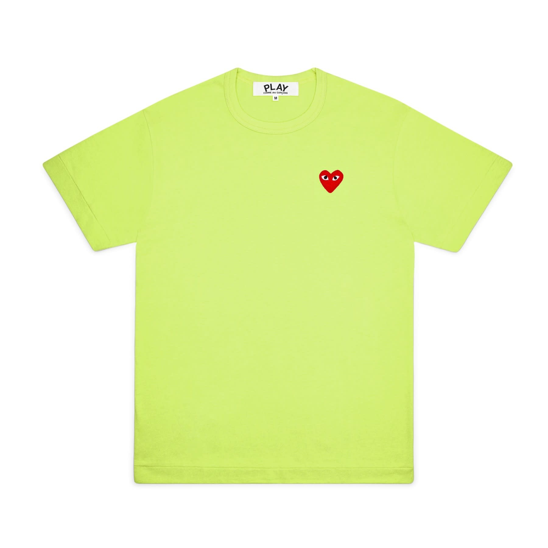 COMME des GARÇONS PLAY COMME DES GARÇONS PLAY GREEN TEE WITH RED HEART