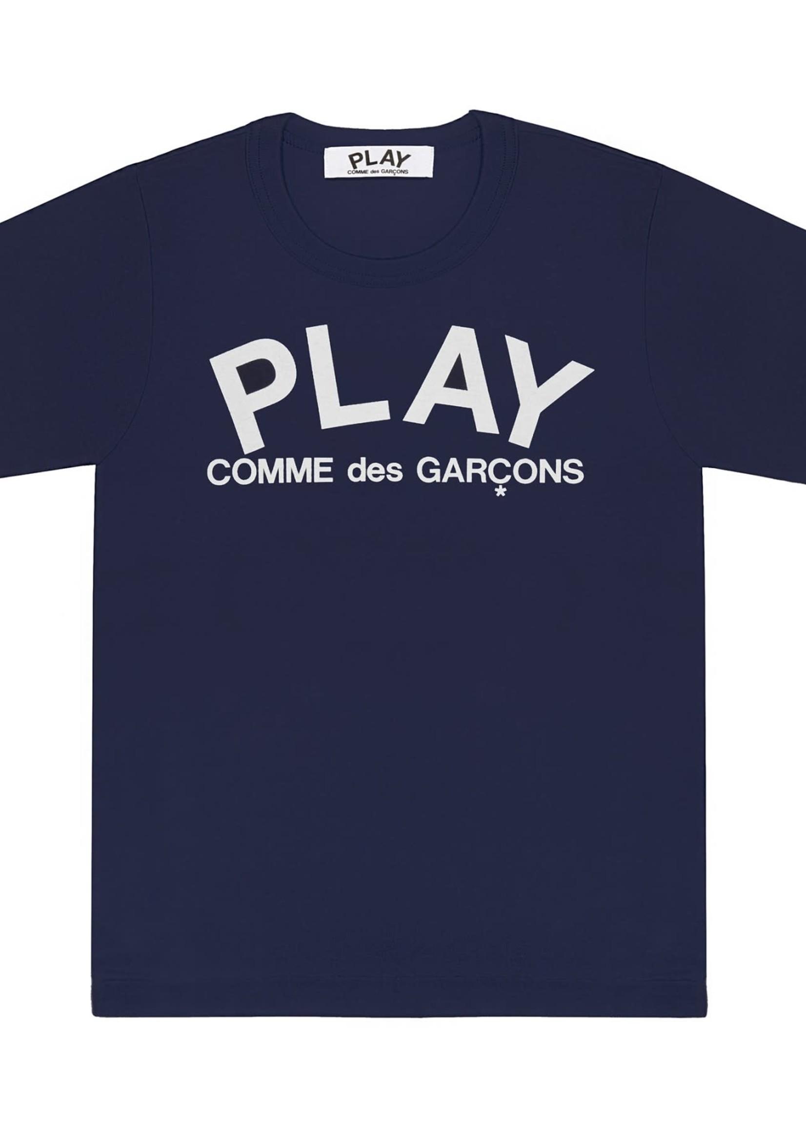COMME des GARÇONS PLAY Navy Logo T-shirt