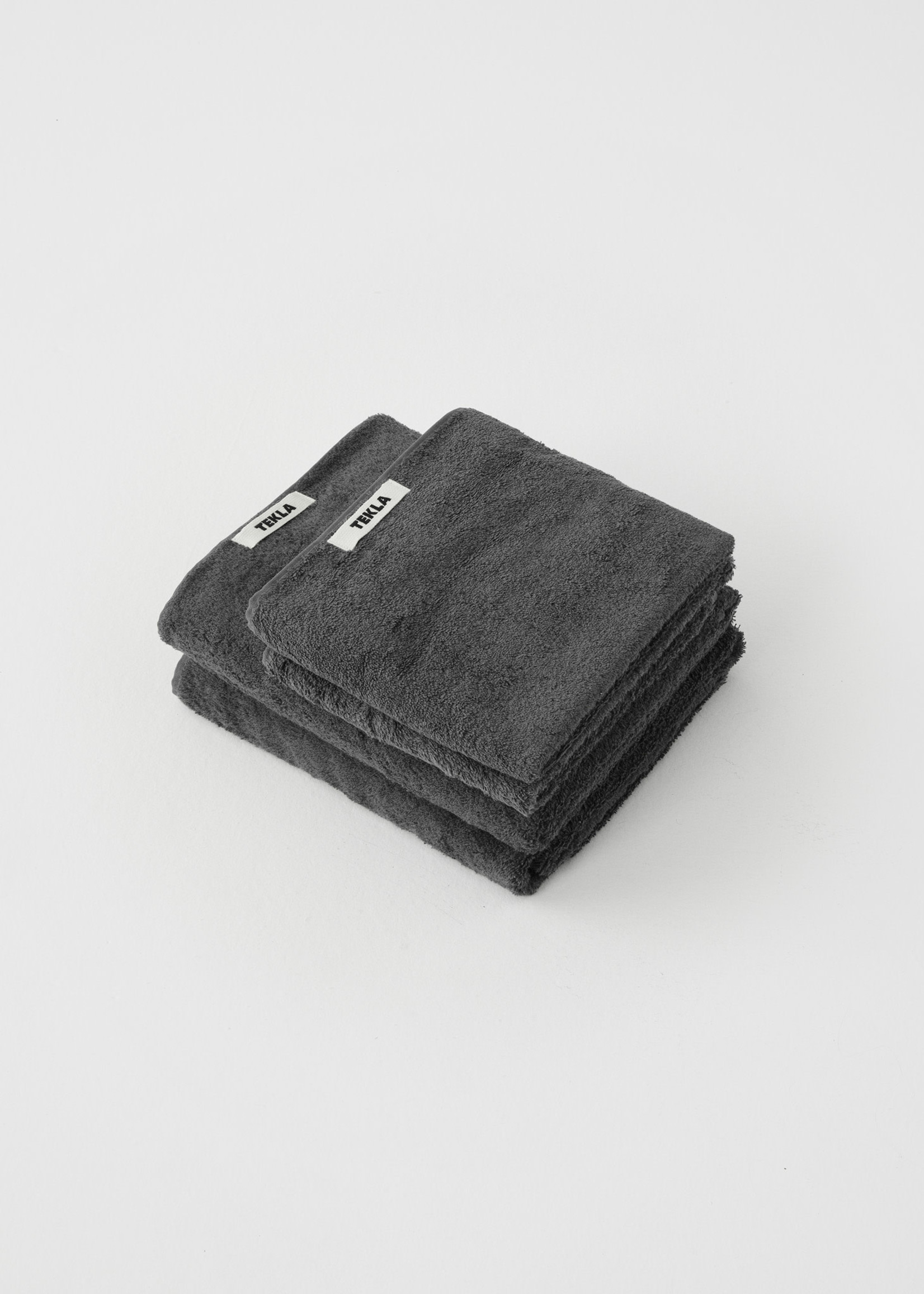 TEKLA Organic Bath Towel in Charcoal