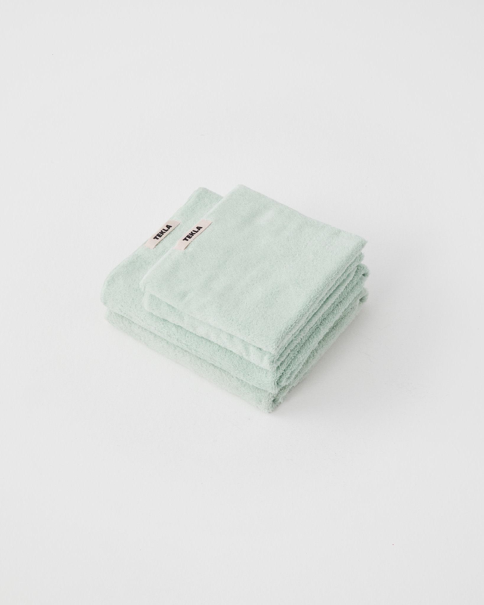 TEKLA Organic Hand Towel in Mint