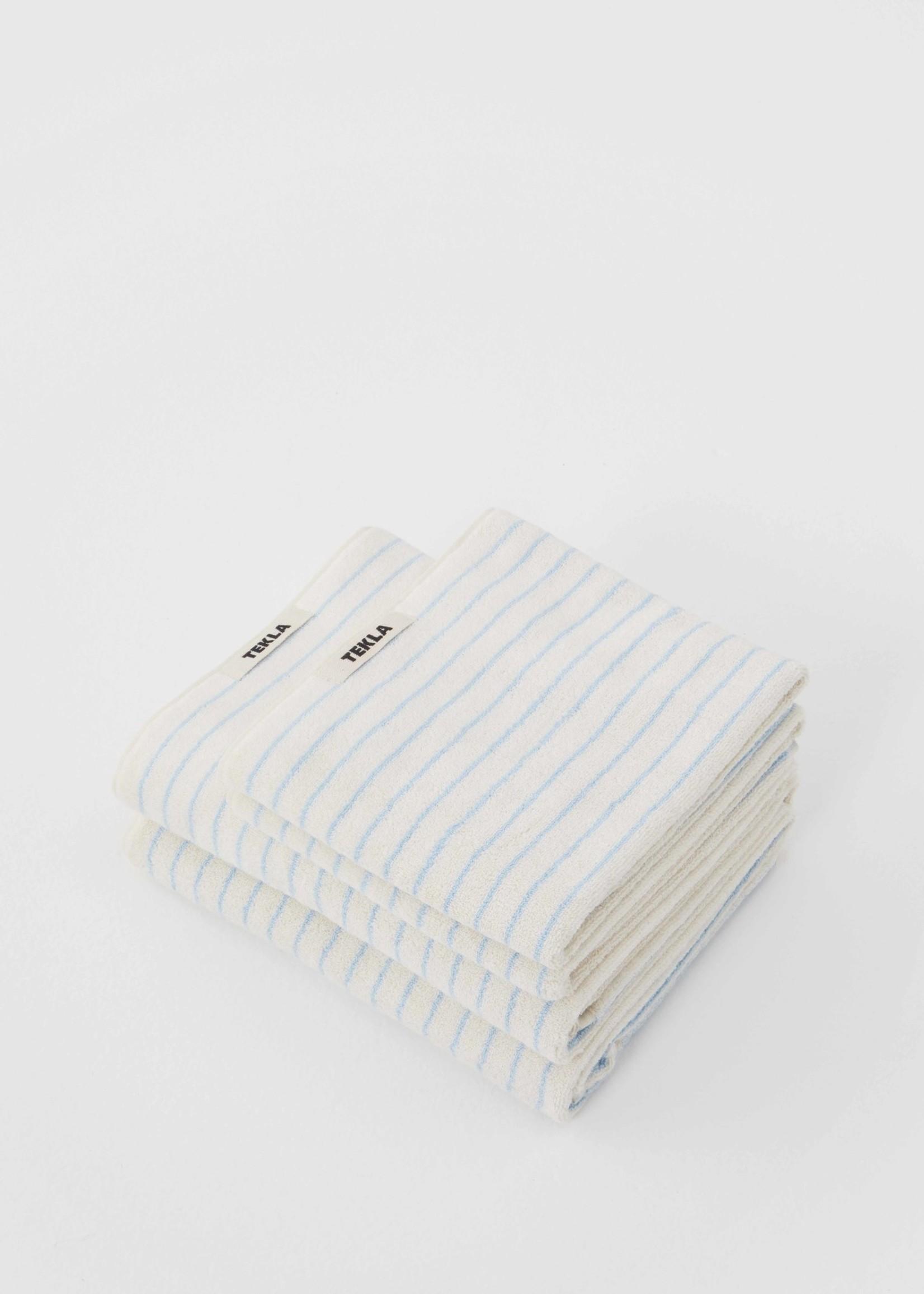 TEKLA Organic Hand Towel in Baby Blue Stripe