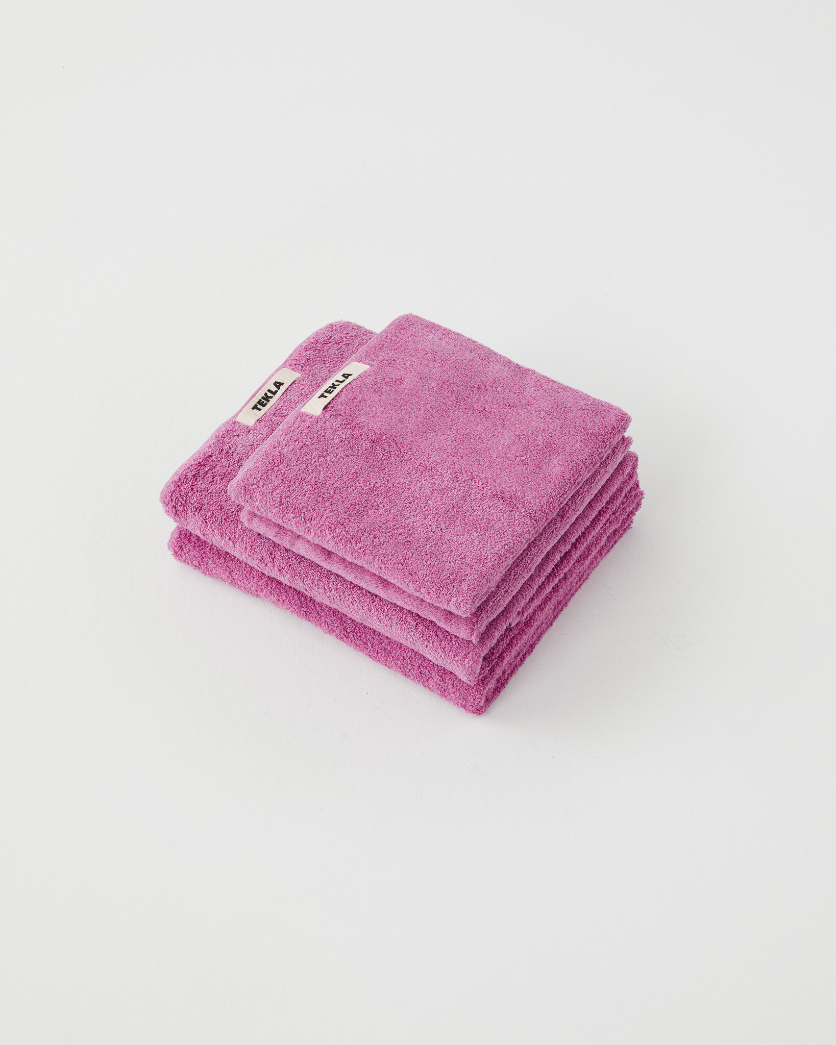 TEKLA Organic Bath Towel in Magenta