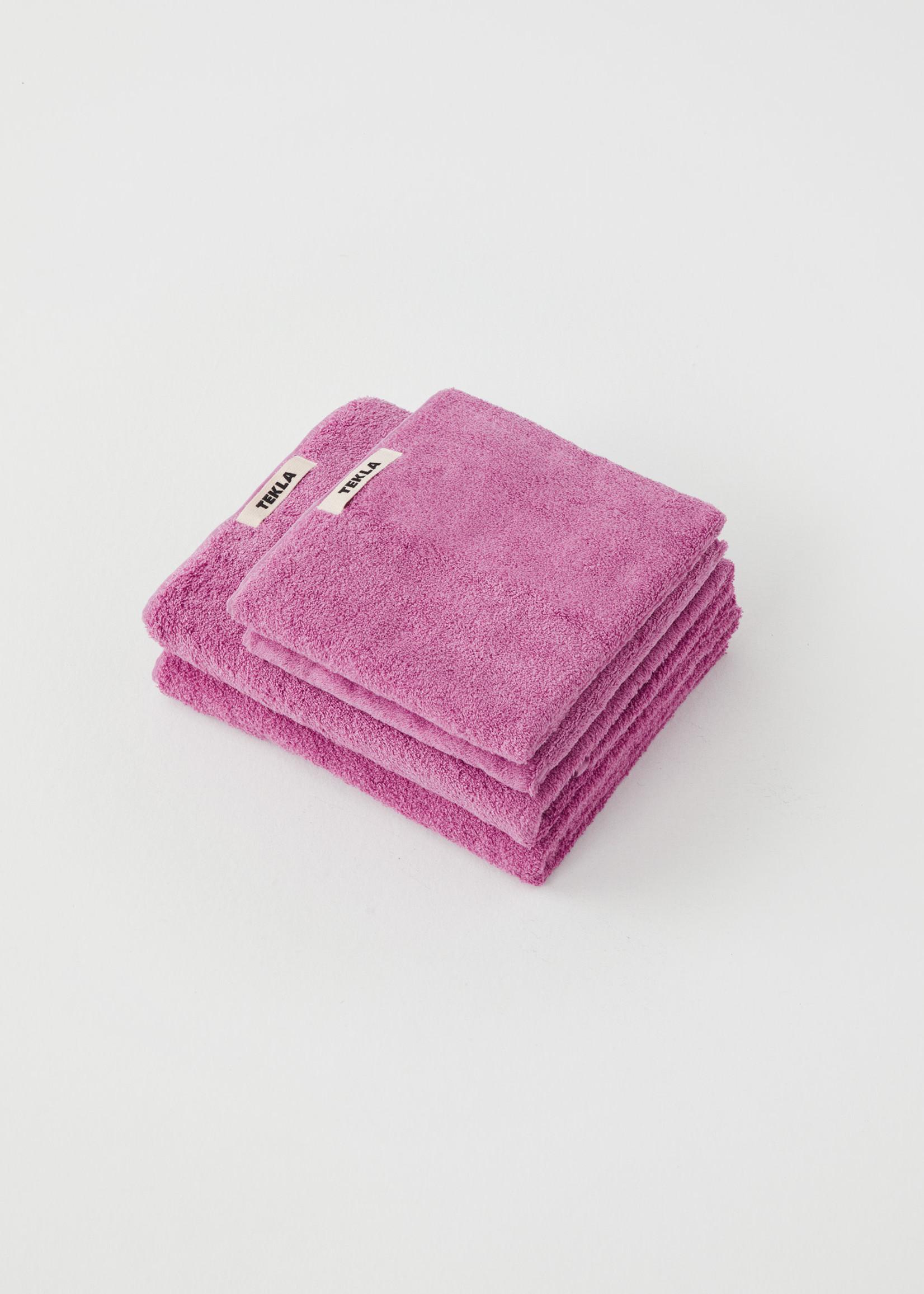 TEKLA Organic Hand Towel in Magenta