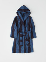 TEKLA TEKLA Unisex Hooded Terry Bathrobe Navy Stripe