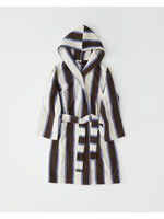 TEKLA TEKLA Unisex Hooded Terry Bathrobe in Cocoa Stripe