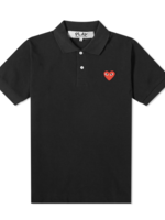 COMME des GARÇONS PLAY Comme des Garçons PLAY Black Polo with Red Heart