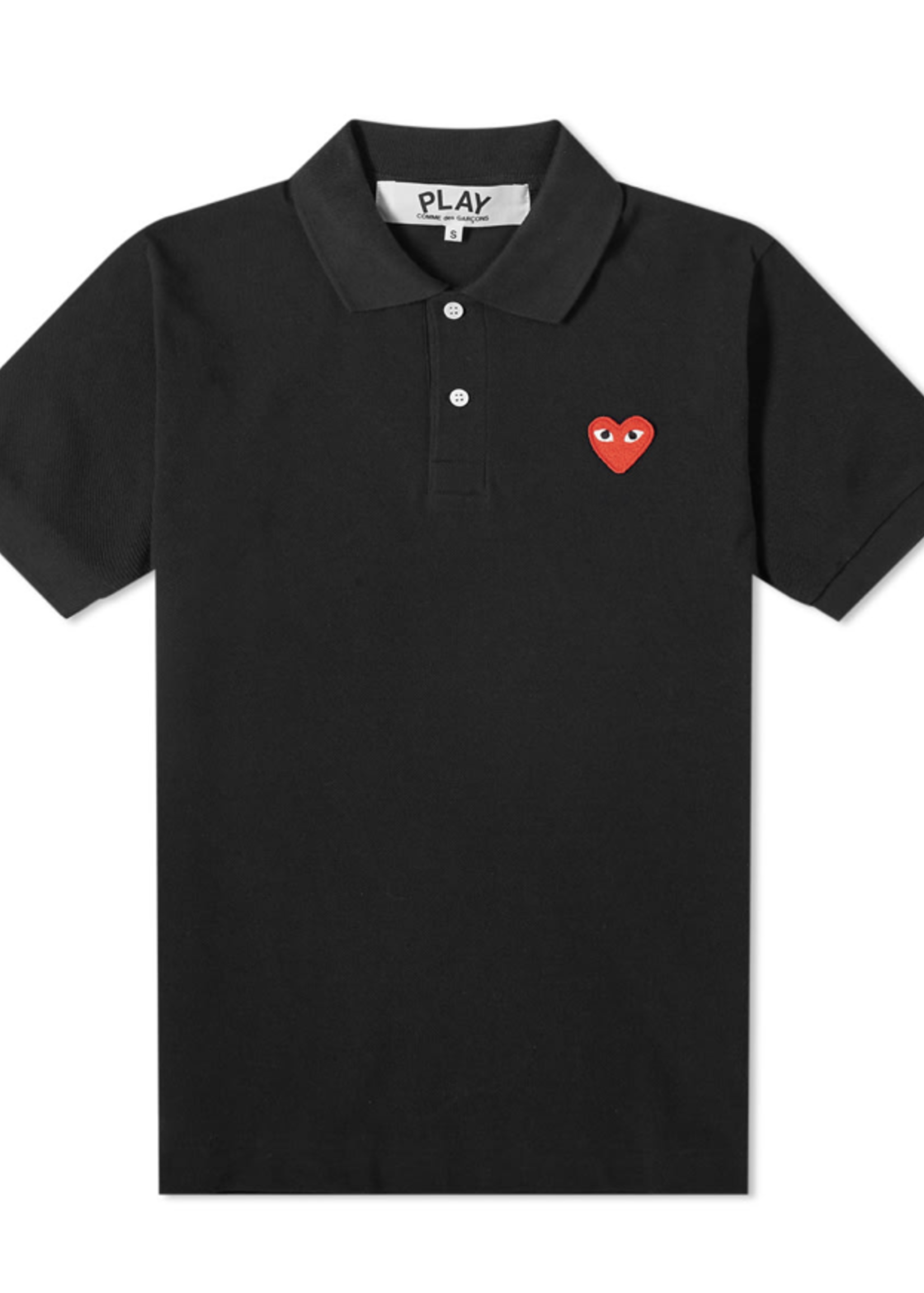 COMME des GARÇONS PLAY Black Polo with Red Heart