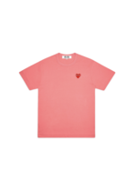COMME des GARÇONS PLAY COMME DES GARÇONS PLAY WOMEN'S PINK TEE WITH RED HEART