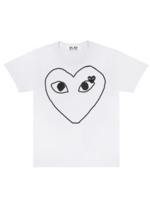 COMME des GARÇONS PLAY Comme des Garçons PLAY Womens Outline Heart Tee in White