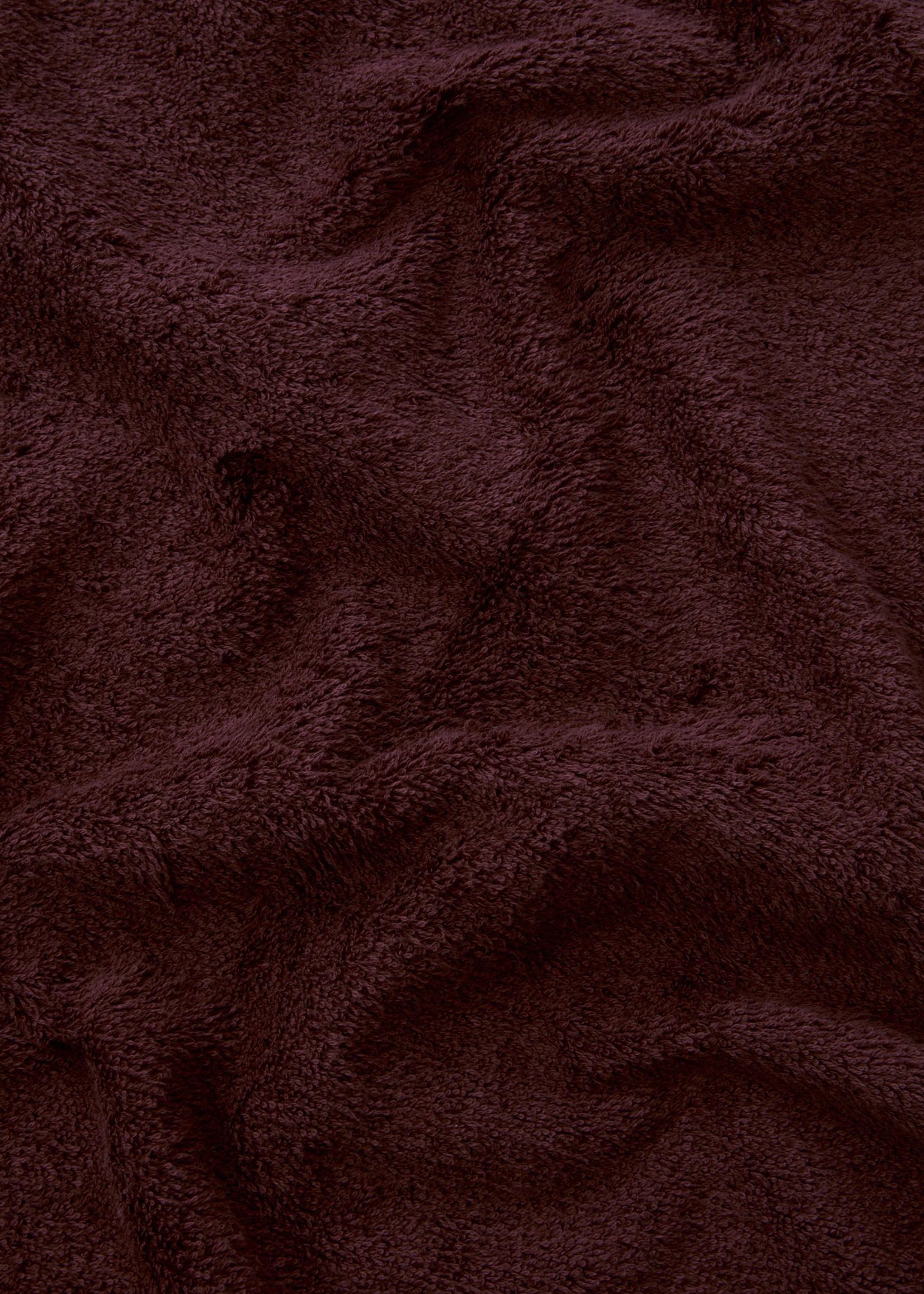 TEKLA TEKLA Organic Hand Towel in Plum Red