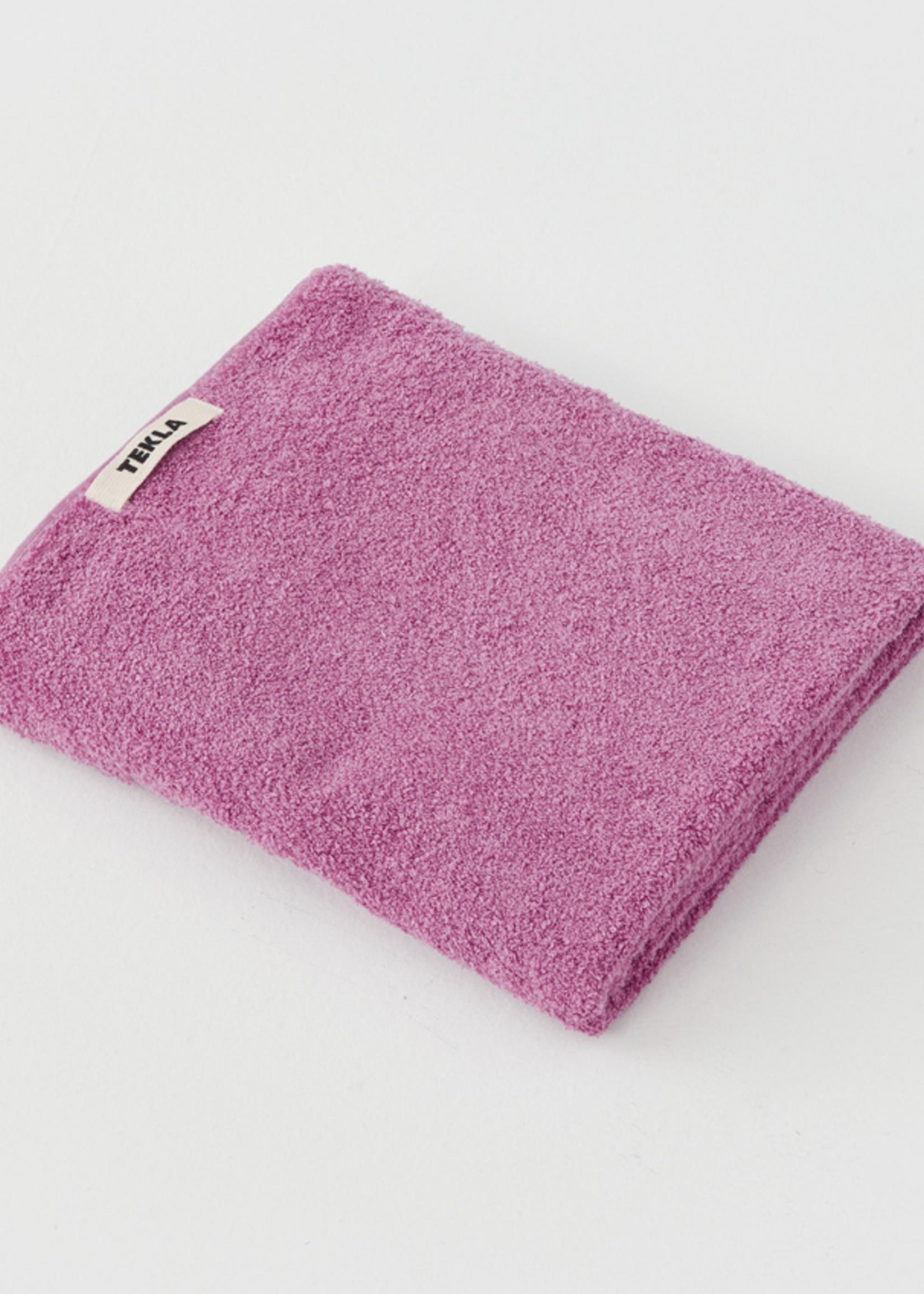 TEKLA Organic Bath Towel in Magenta