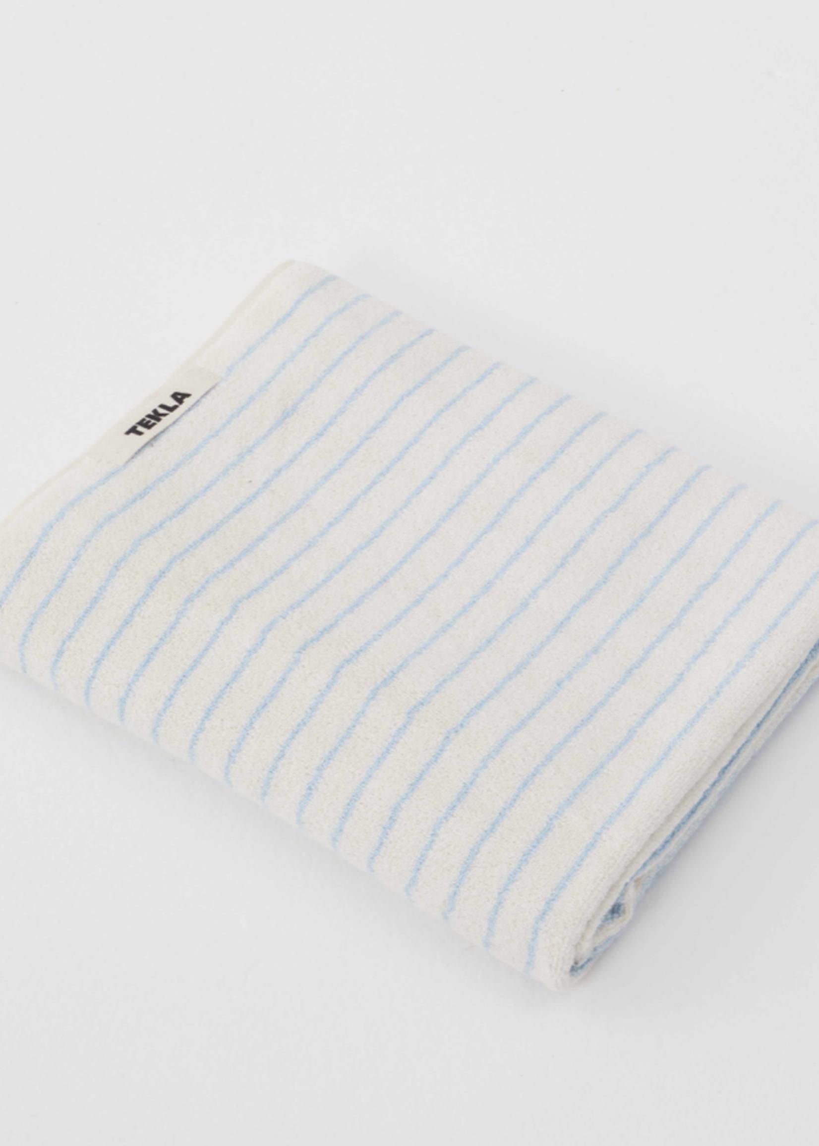 TEKLA TEKLA Organic Bath Towel in Baby Blue Stripe