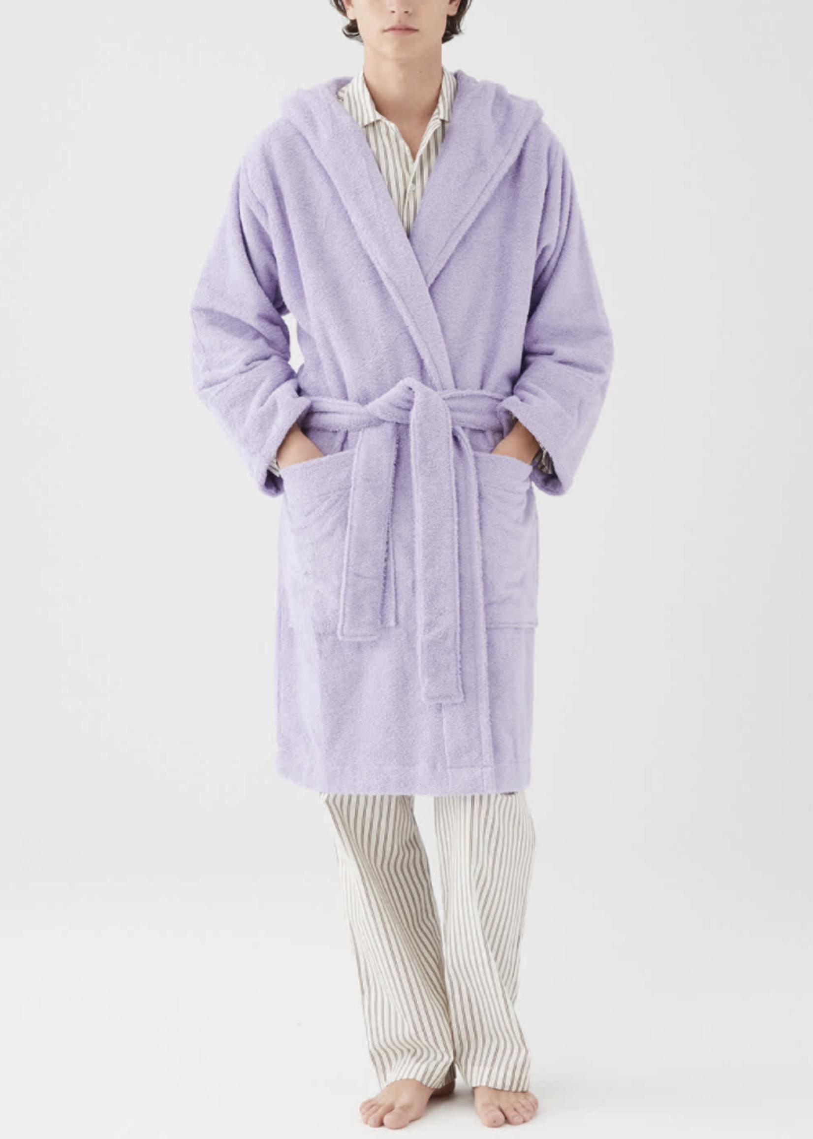 TEKLA Unisex Hooded Terry Bathrobe in Lavender