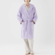 TEKLA Unisex Hooded Terry Bathrobe in Lavender