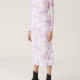 GANNI Fitted Mesh Dress in Orchid