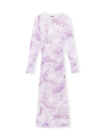 GANNI GANNI Fitted Mesh Dress in Orchid