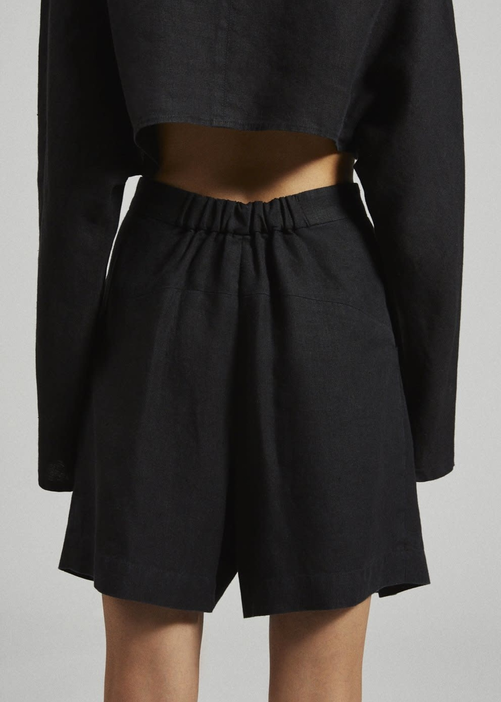 Rachel Comey Bandini Linen Shorts in Black
