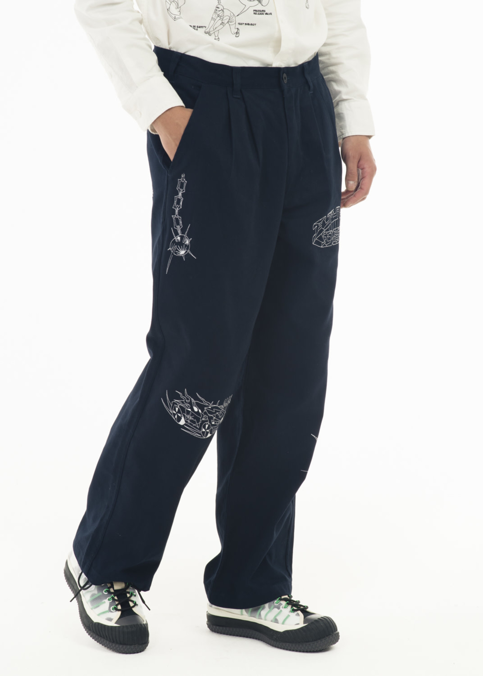 Brain Dead Whips and Chains Wide Leg Pant in Navy