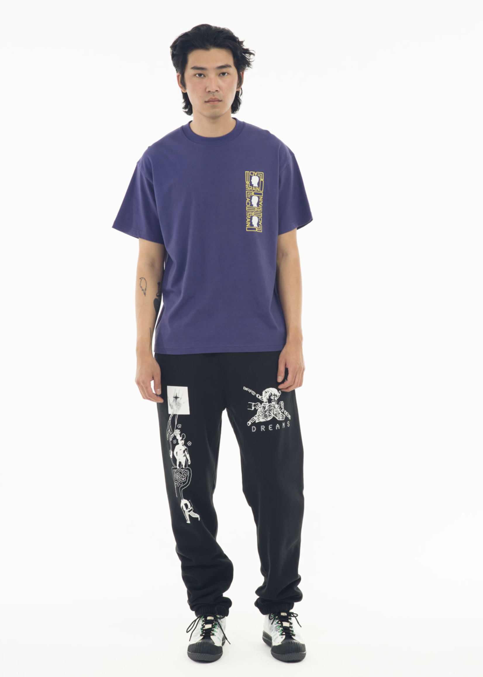 Brain Dead Phase Ecology Sound T-shirt in Frosted Purple