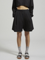 Rachel Comey Bandini Linen Shorts in Black