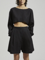 Rachel Comey Labriola Linen Top in Black