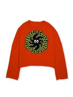 Brain Dead Brain Dead Spit it Cropped Boxy Sweater in Red