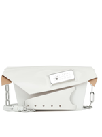 Maison Margiela Small Snatched Bag in White