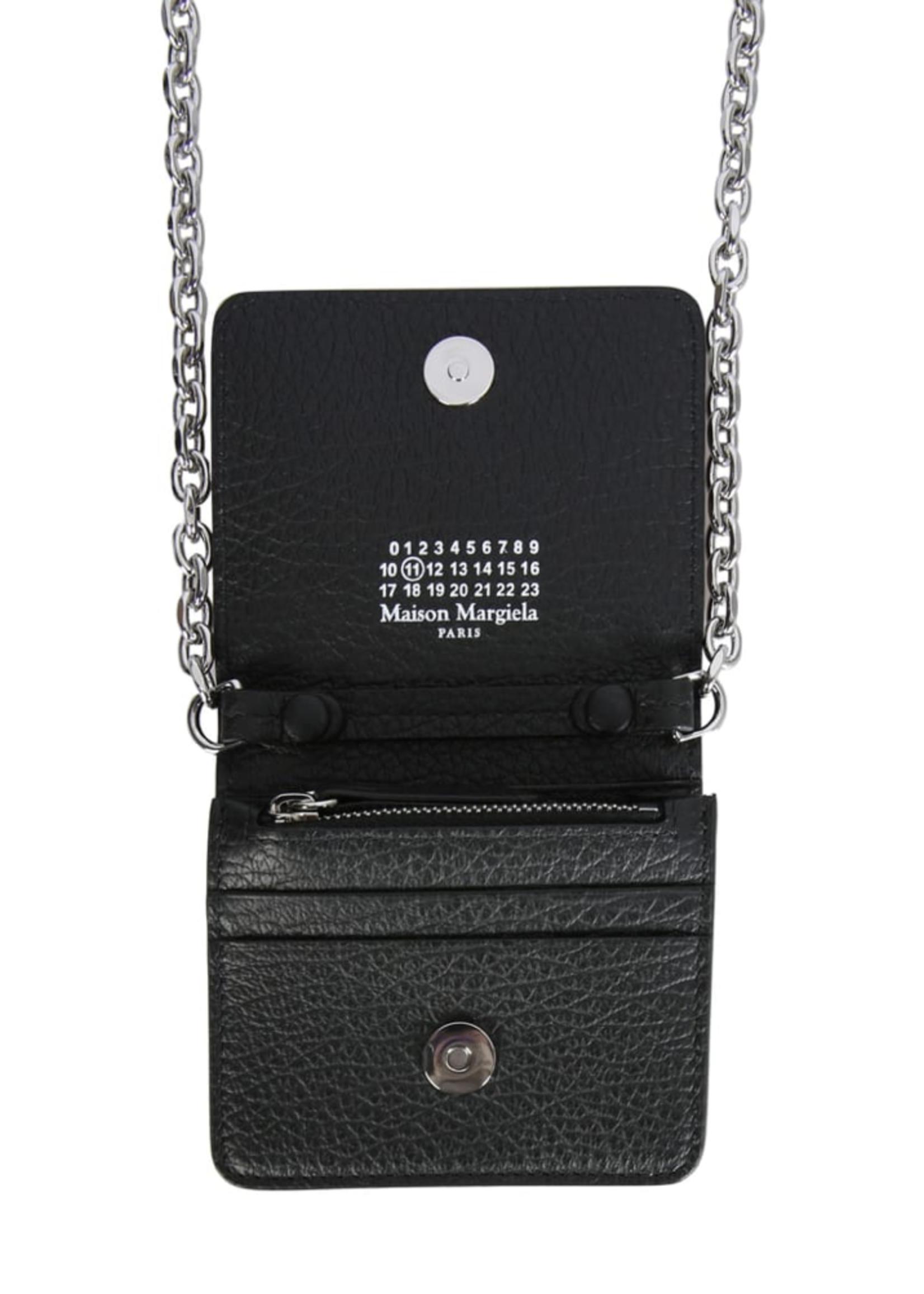 Maison Margiela Small Chain Wallet in Black