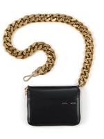 KARA KARA Large Bike Wallet in Black with Gold Chain