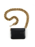 KARA KARA Large Bike Wallet in Black with Gold Chain