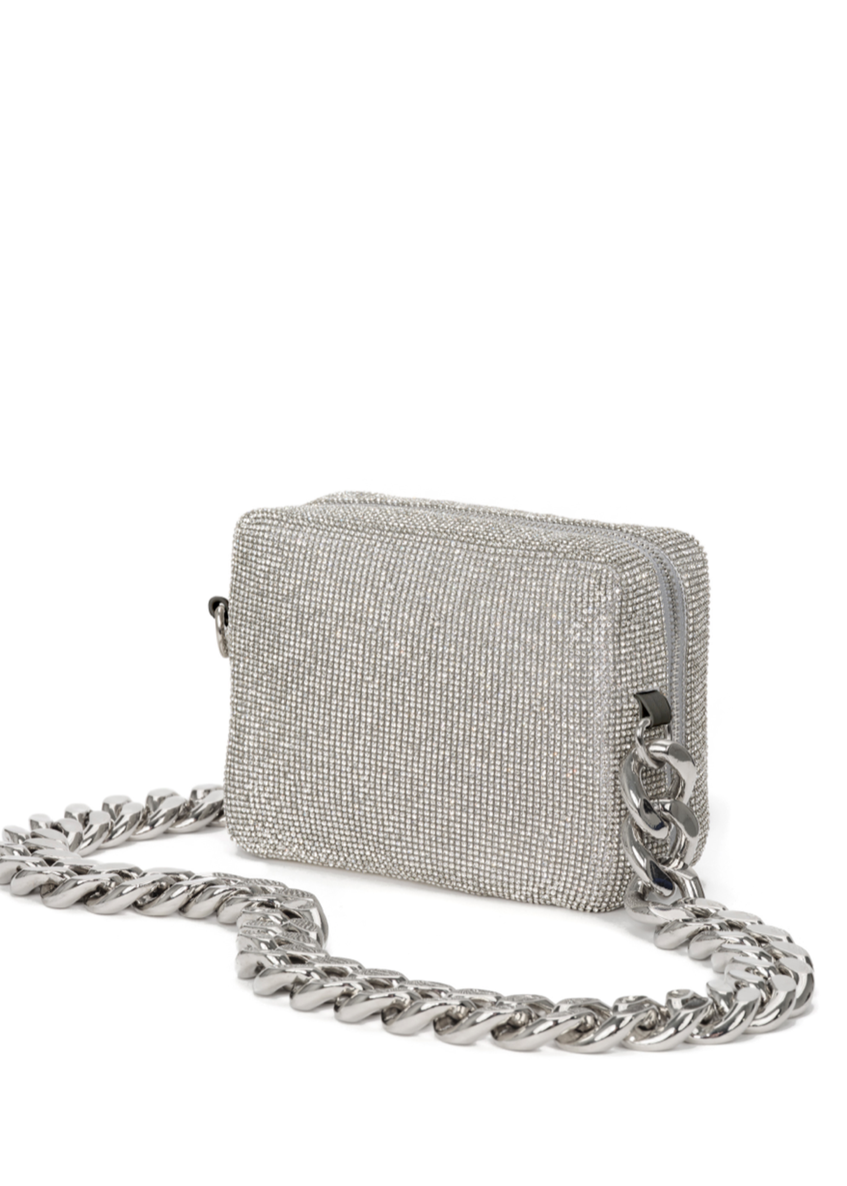 KARA KARA Crystal Mesh Camera Bag White Crystal