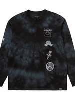 Carhartt Work In Progress Long Sleeve Tab Tee in Black Tie Dye