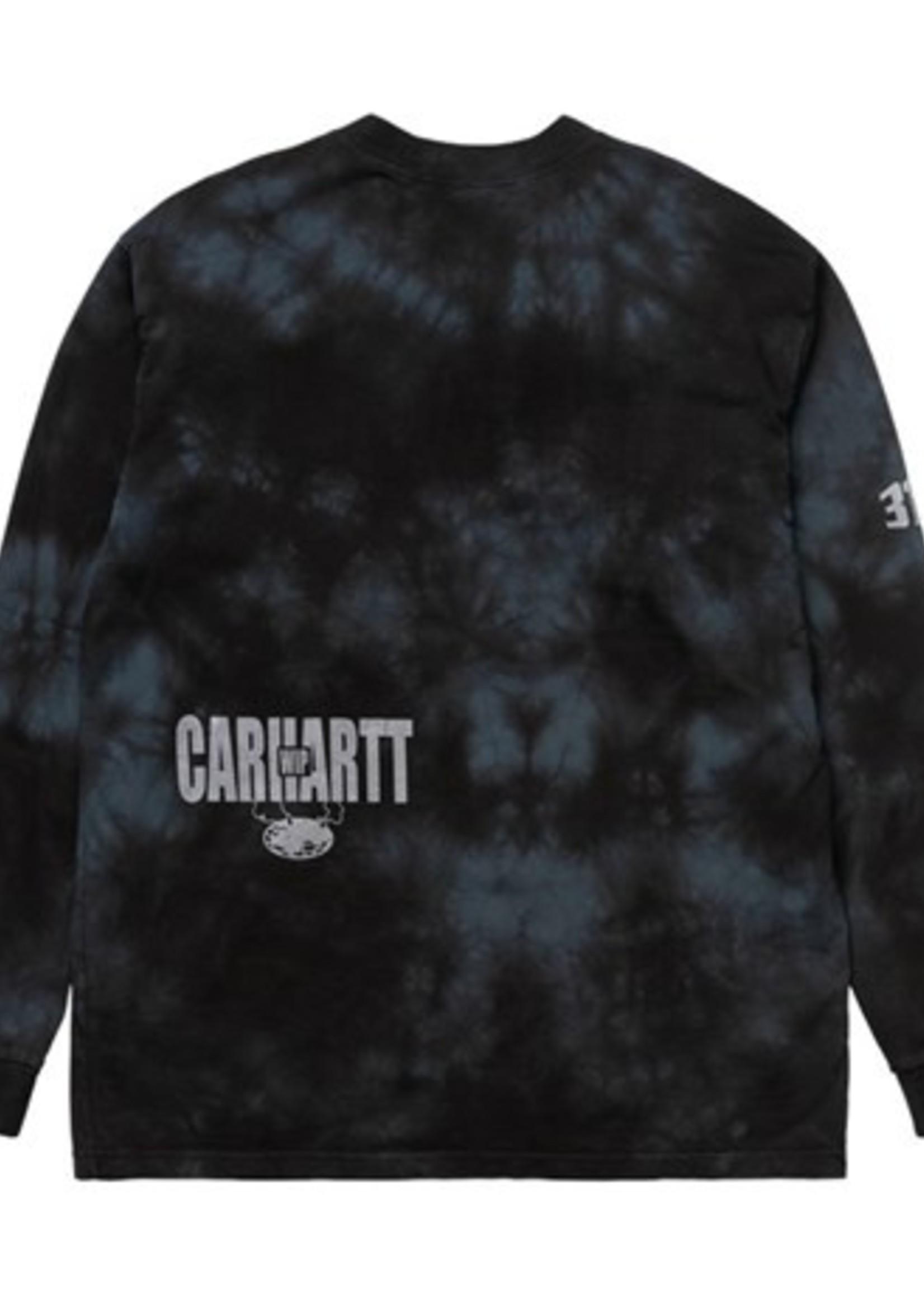 Carhartt Work In Progress Long Sleeve Tab Tee in Black Tie Dye