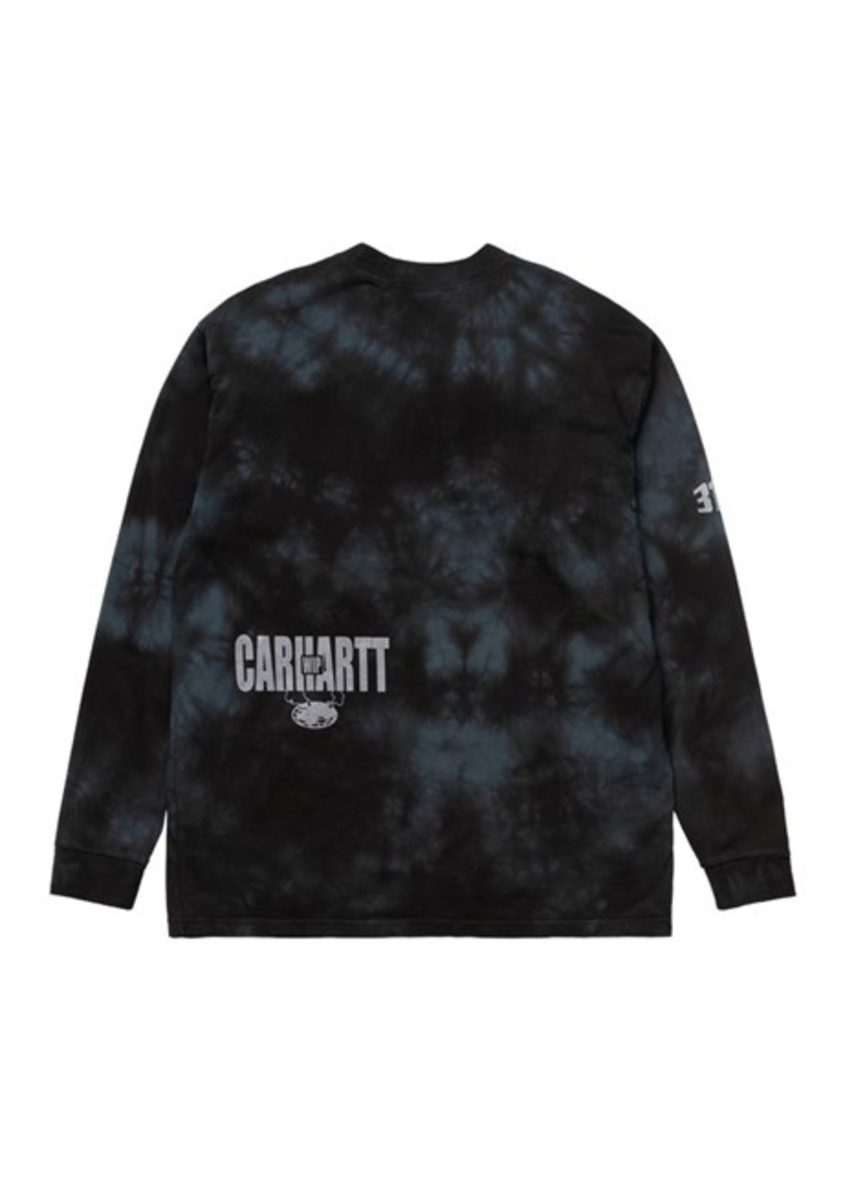 Carhartt Work In Progress Carhartt WIP Long Sleeve Tab Tee in Black Tie Dye
