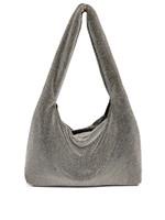 KARA KARA Crystal Mesh Armpit Bag in Hematite and White