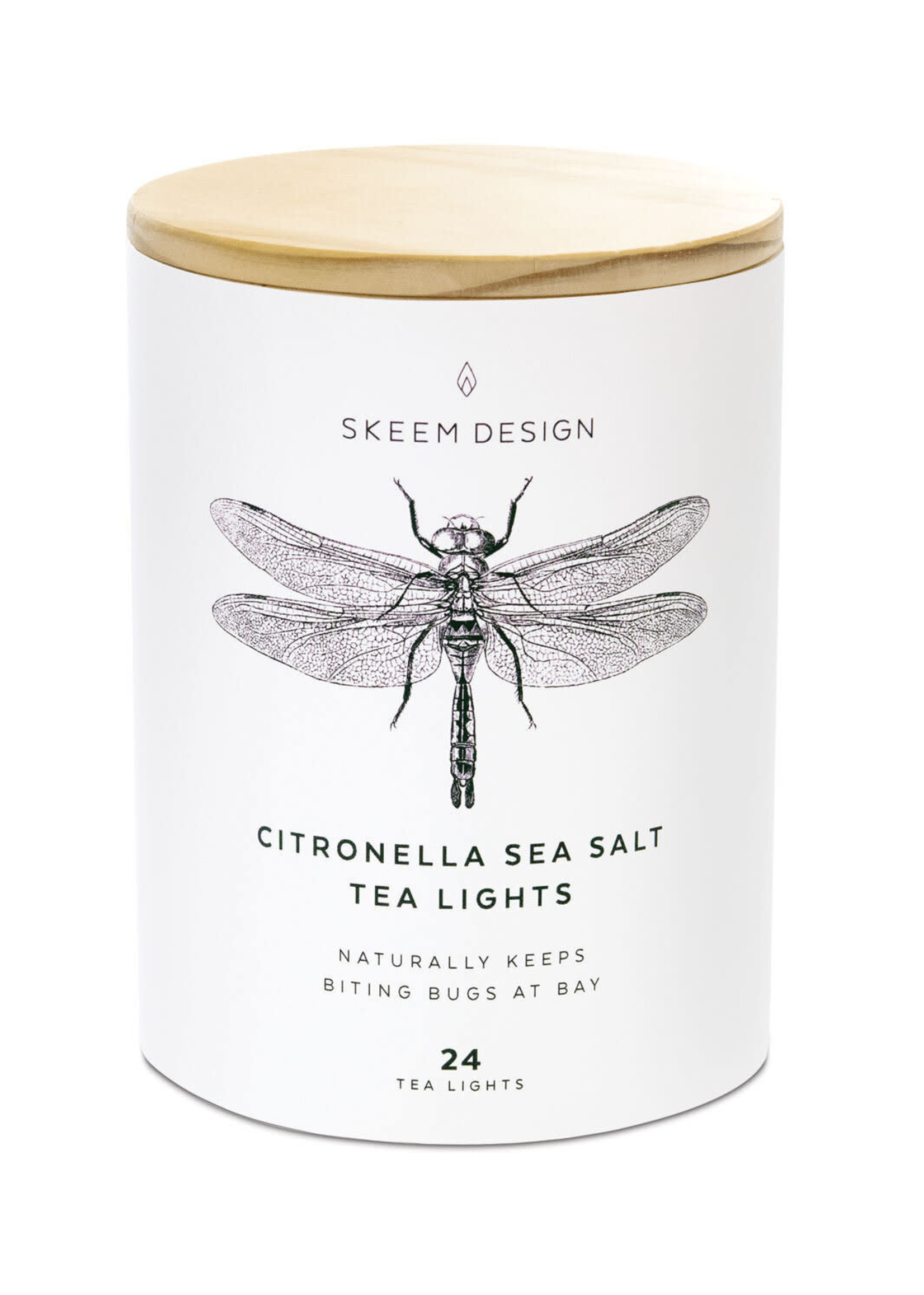 Citronella tea light candle: set of 24