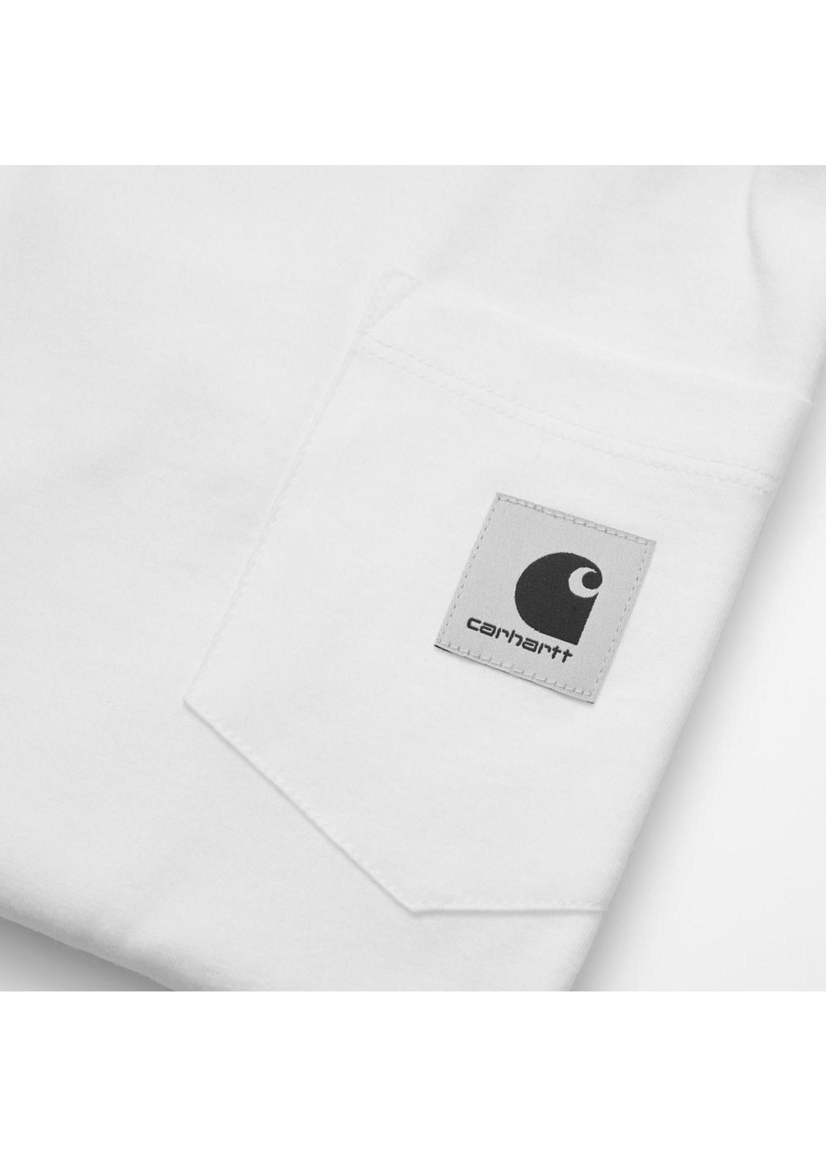 Carhartt Work In Progress Women's Long Sleeve Pocket Tee in White
