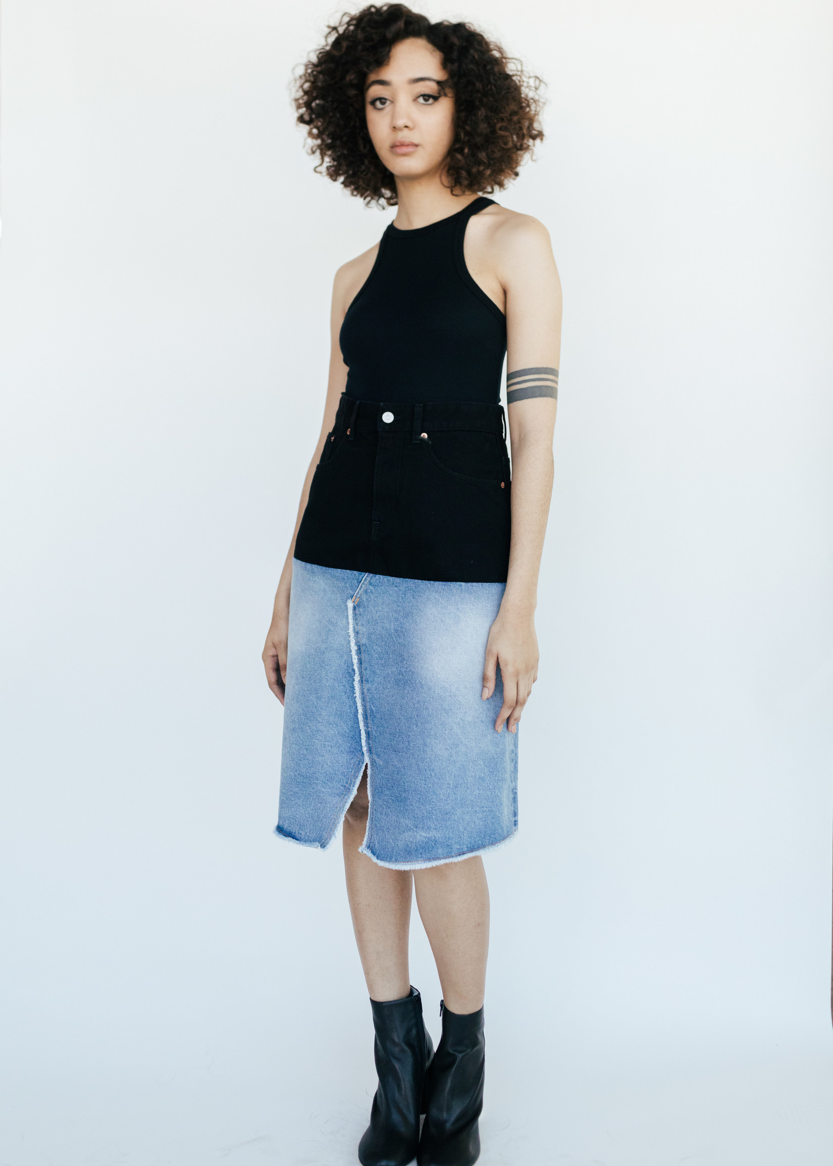 MM6 MAISON MARGIELA Spliced Denim Skirt