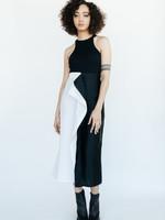 MM6 MAISON MARGIELA MM6 Maison Margiela Split Skirt in Black and White