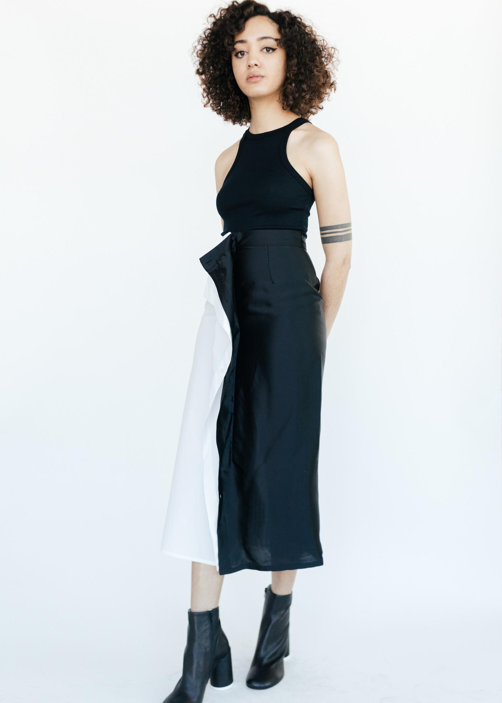 MM6 MAISON MARGIELA Split Skirt in Black and White