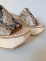 Rachel Comey Rachel Comey Wood Clog Sandal in Bone Snake Print