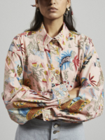 Rachel Comey Isa Shirt in Peach Floral Tapestry