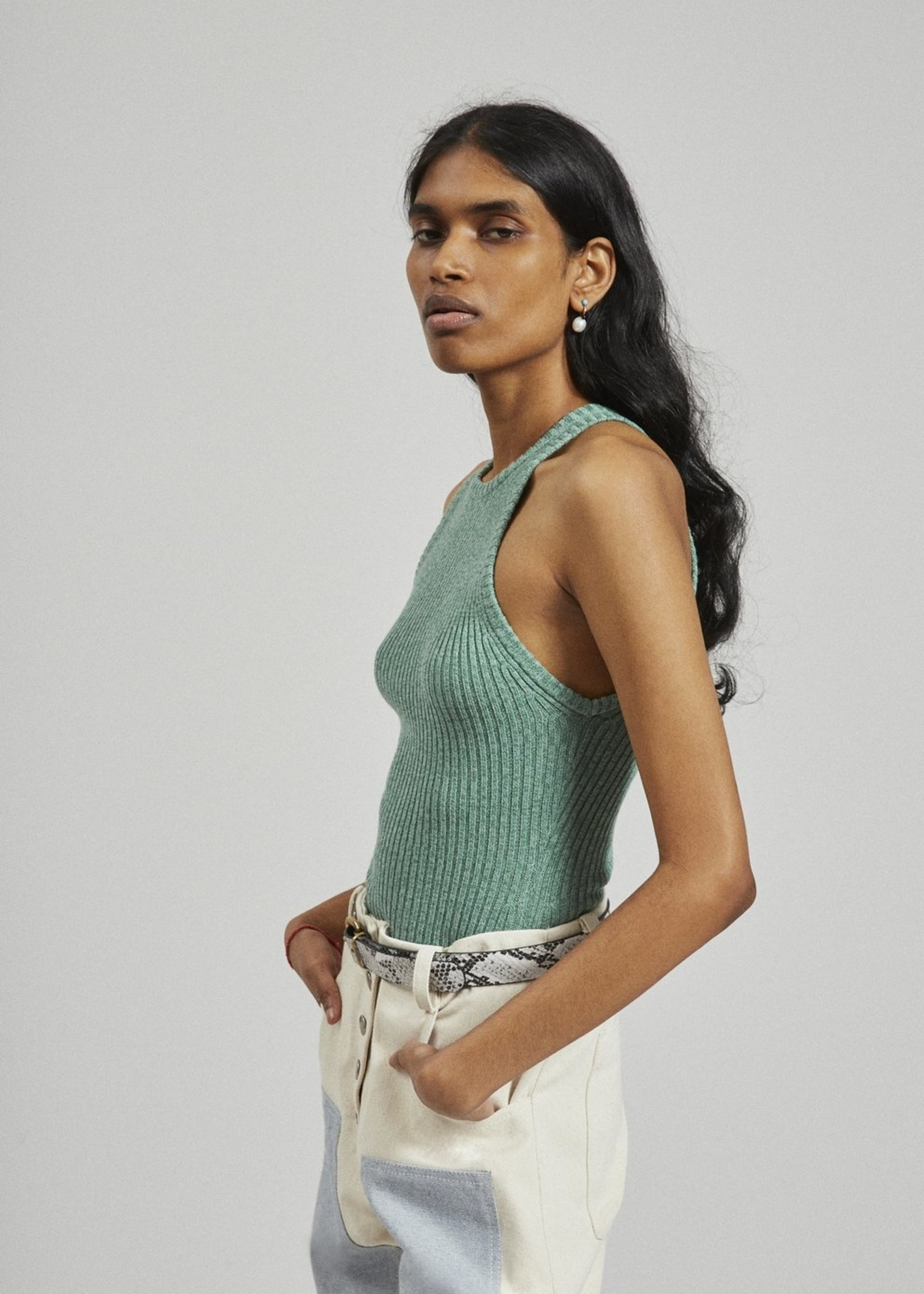 Rachel Comey Senna Knit Tank in Sage